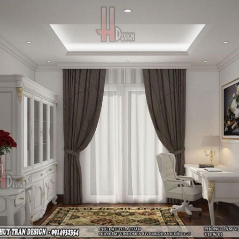 Thiết kế nội thất bàn làm việc hơp phong thủy cho người mệnh Thủy