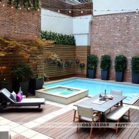 Mẫu bể bơi tuyệt đẹp cho thiết kế sân vườn đẳng cấp