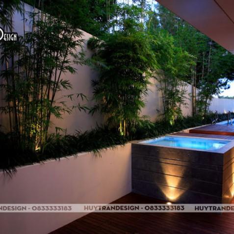 Thiết kế sân vườn với tre trúc độc đáo, hợp phong thủy