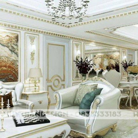 Đèn chùm pha lê trang trí phòng khách hợp phong thủy - thiết kế nội thất đẹp