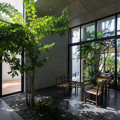 Thiết kế nội thất đẹp với phong cách nhiệt đới