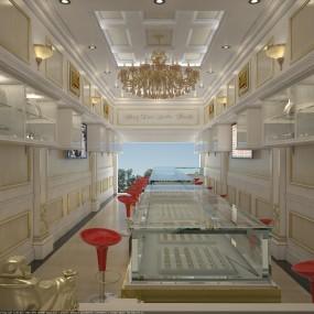 Thiết kế nội thất tiệm vàng Đức Thịnh