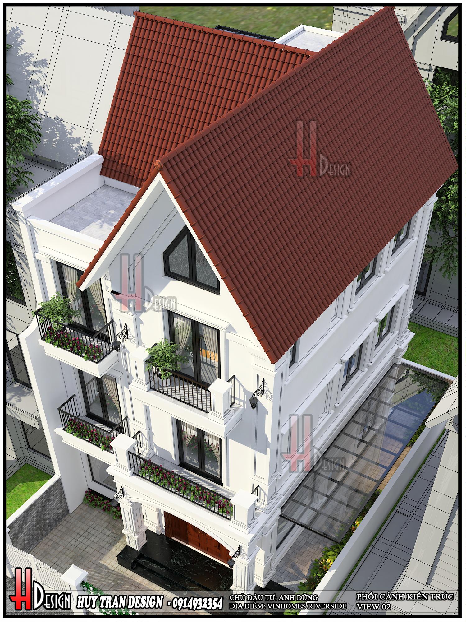 Mẫu thiết kế  Vinhomes Riverside - Cải tạo biệt thự Anh Đào