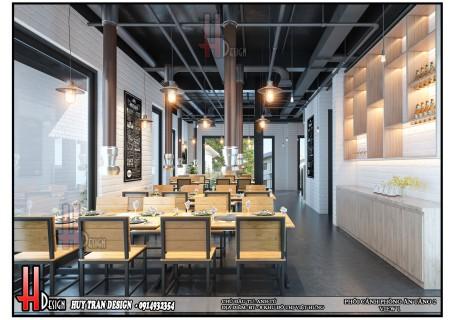 Mẫu thiết kế nội thất đẹp quán nướng BBQ chủ đầu tư anh Tú