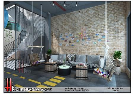 Mẫu thiết kế nội thất quán Cafe - anh Ngọc