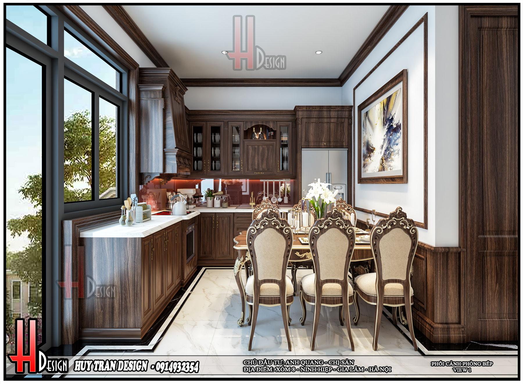 Mẫu Thiết kế nhà ở anh Quang chị Sản