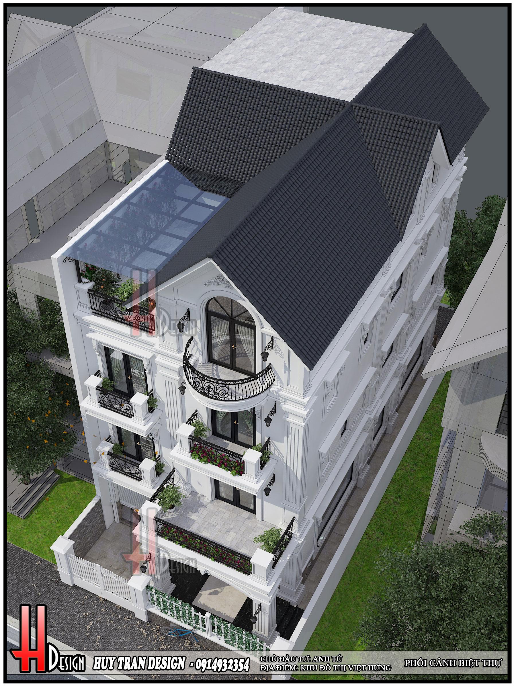 Mẫu thiết kế nội thất tân cổ điển gam màu trung tính dịu mắt - Biệt Thự Việt Hưng - Anh Tú