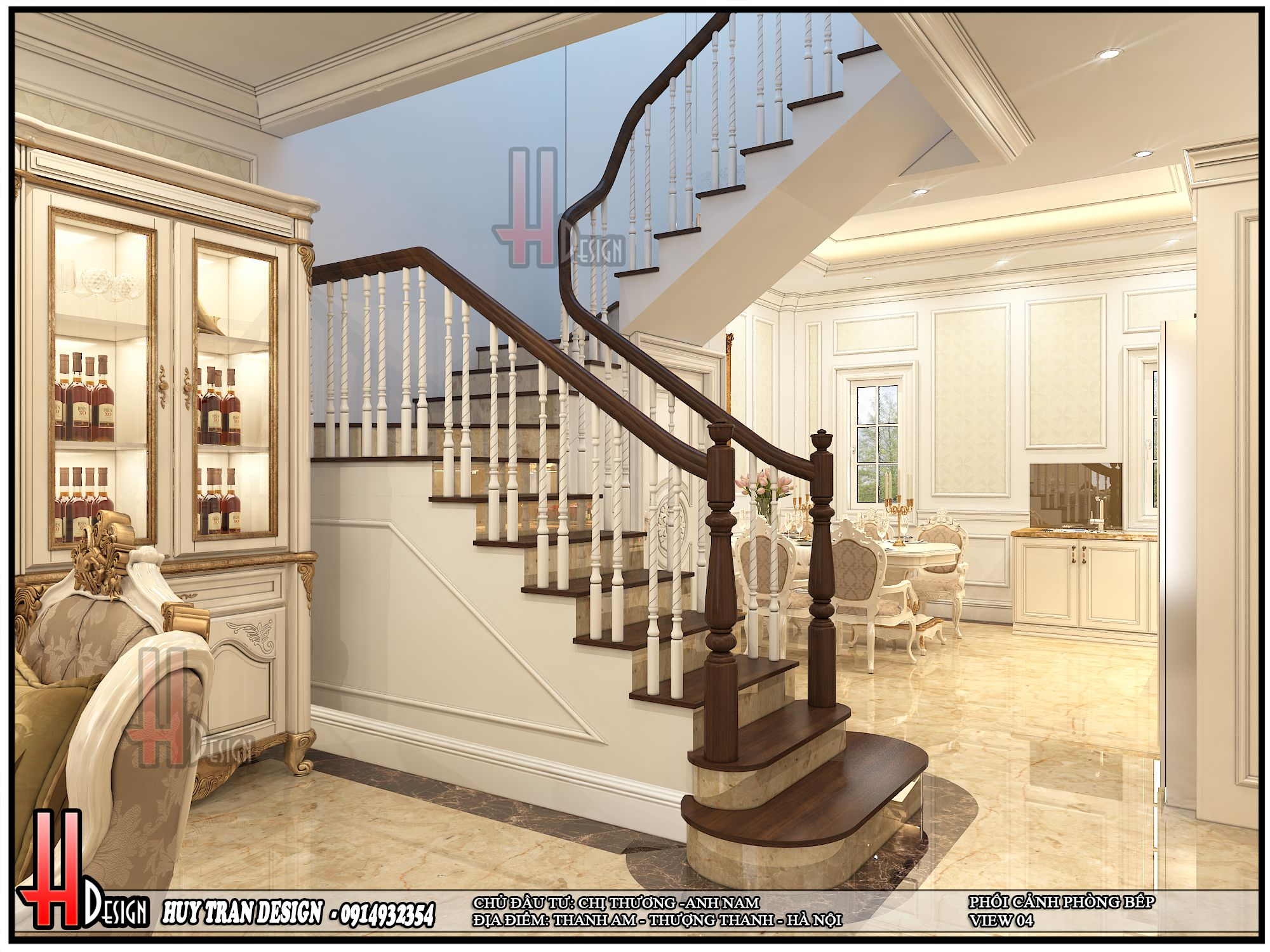 Mẫu thiết kế nội thất tân cổ điển - A Nam Thanh Am