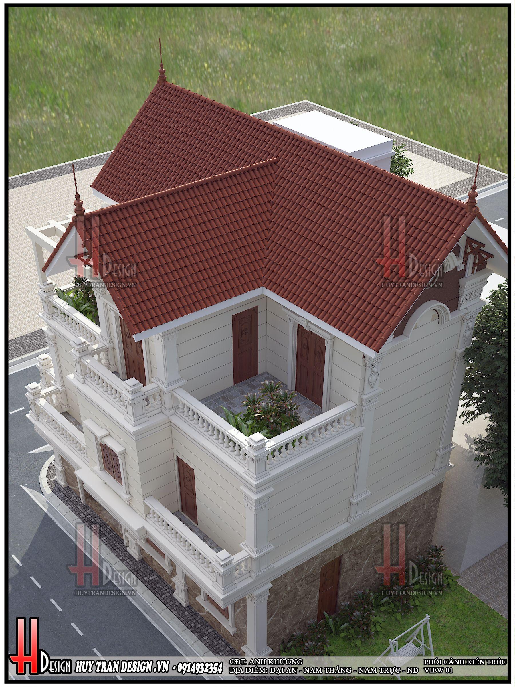 Mẫu thiết kế biệt thự tân cổ điển 3 tầng tại Nam Định