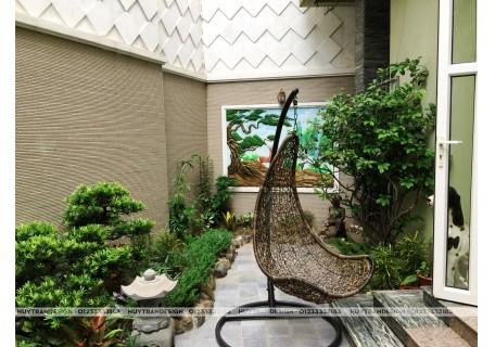 Mẫu thiết kế tiểu cảnh sân vườn hồ Koi ngoài trời – nâng tầm biệt thự