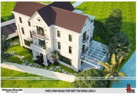 Mẫu nhà đẹp: Thiết kế biệt thự Bằng Lăng tại Vinhomes Riverside – Chị Lân