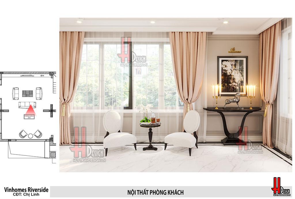 Mẫu thiết kế nội thất biệt thự Vinhomes Riverside - tân cổ điển Christopher Guy
