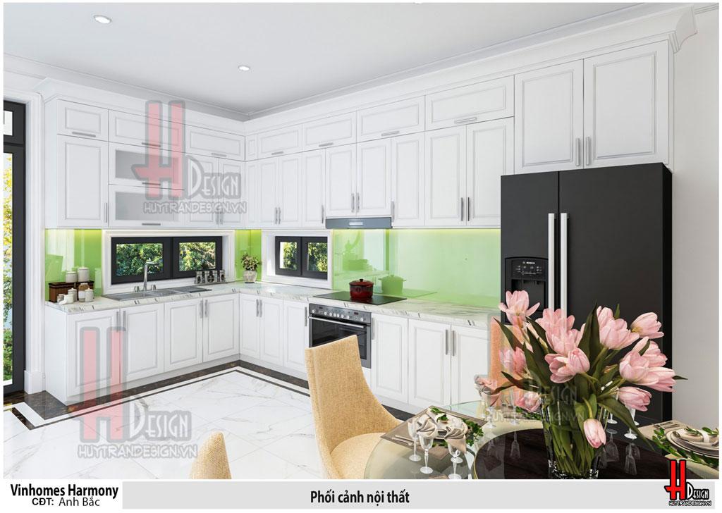 Thiết kế nội thất biệt thự Vinhomes The Harmony phong cách tân cổ điển