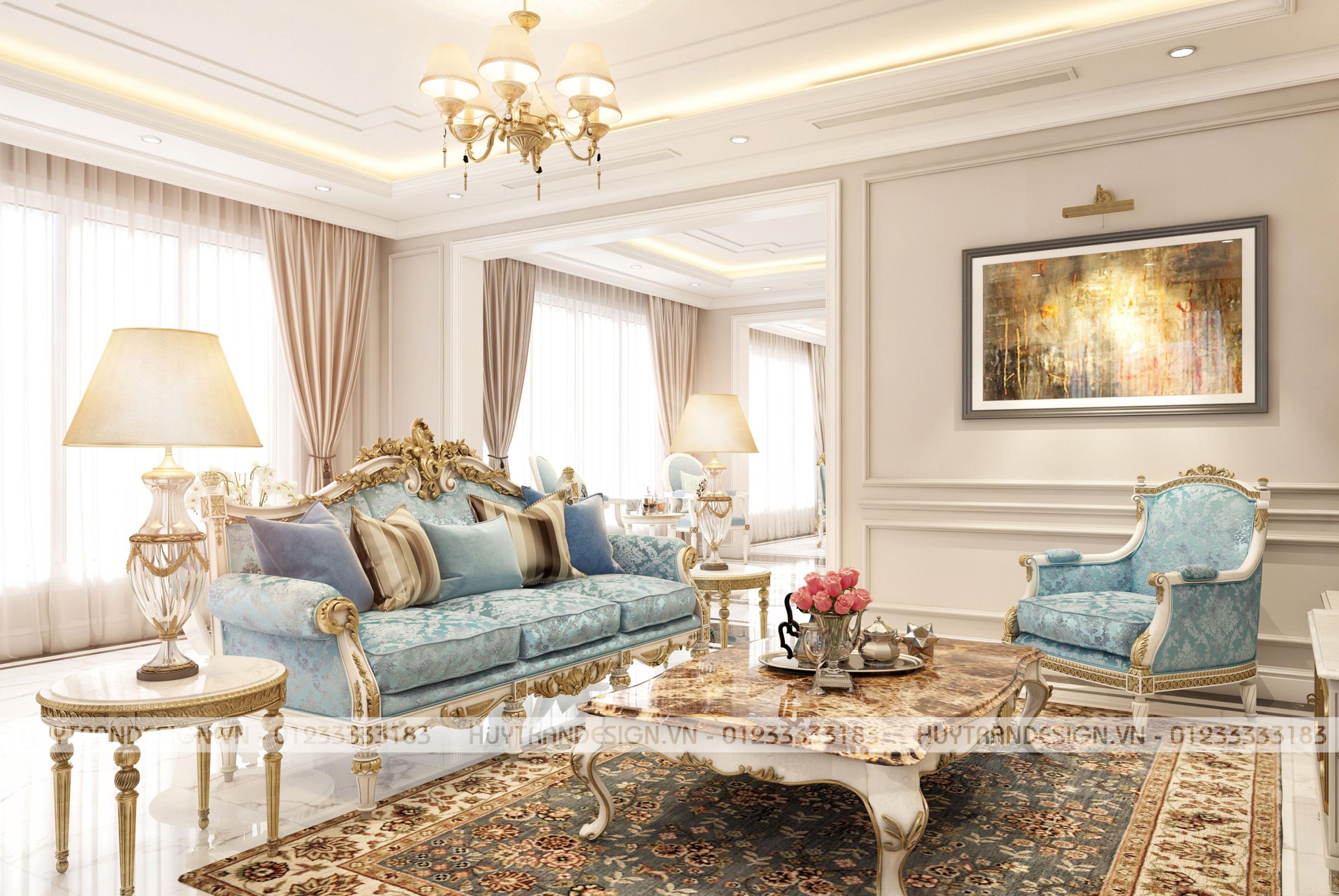 Mẫu thiết kế nội thất tân cổ điển biệt thự Nguyệt Quế cực tinh tế - Vinhomes The Harmony