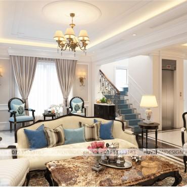 Mẫu thiết kế nội thất tân cổ điển biệt thự Hoa Sữa – Vinhomes Riverside