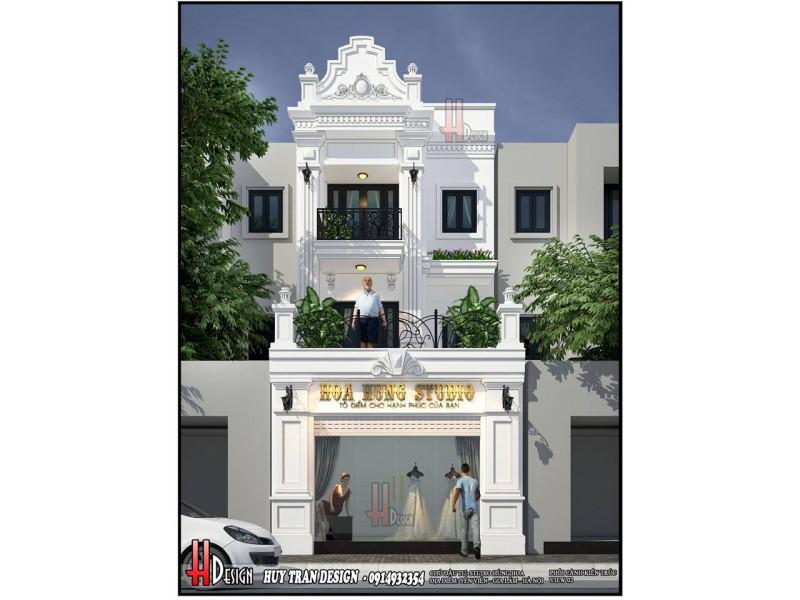 Mẫu thiết kế nhà ở kết hợp kinh doanh tại Yên Viên Gia Lâm - Thiết kế Studio Hoa Hùng