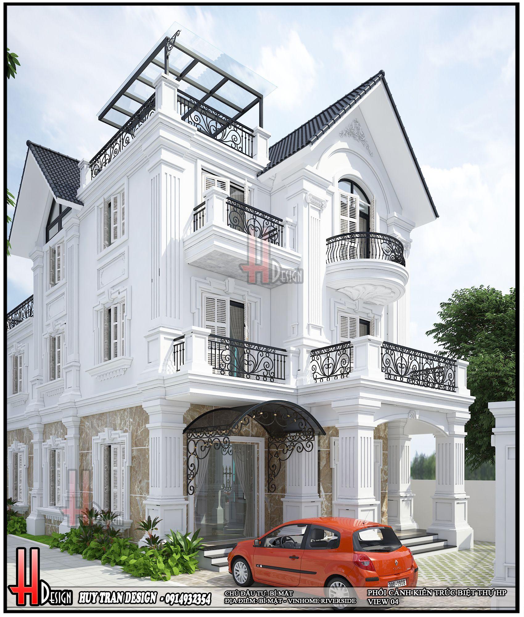 Mẫu thiết kế cải tạo biệt thự Vinhome Riverside -Anh Hùng Hoa Phượng