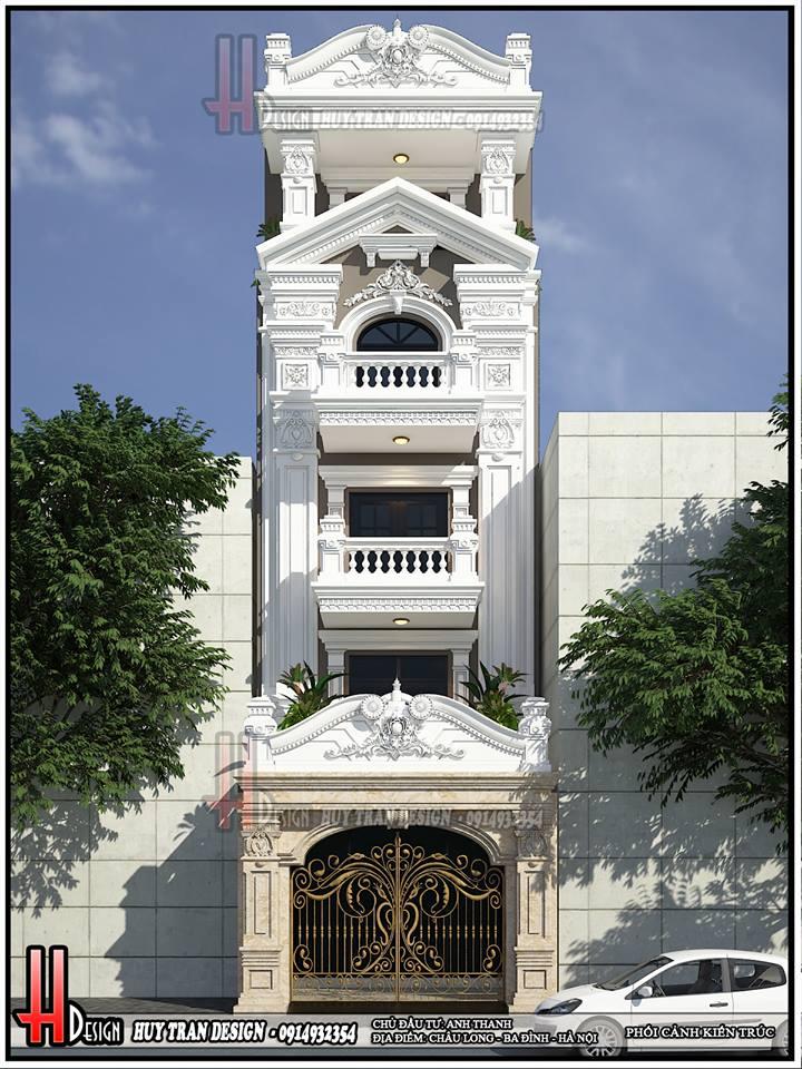 Mẫu thiết kế nhà phố tân cổ điển - Anh Thanh