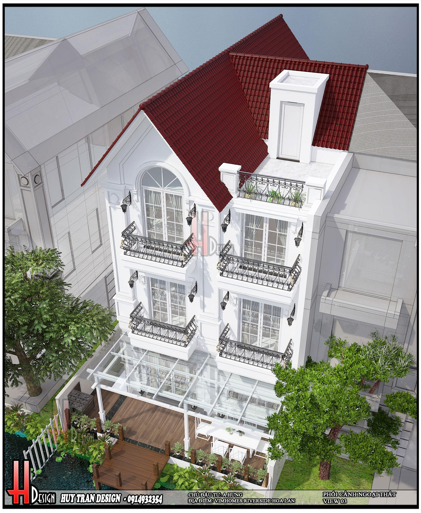 Mẫu thiết kế nội thất Vinhomes Riverside - biệt thự Hoa Lan