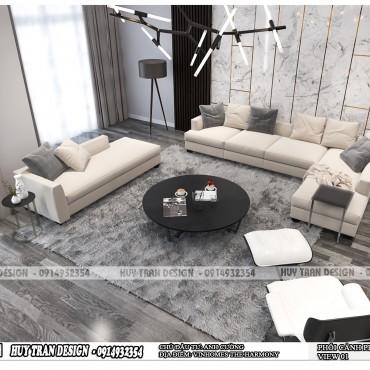 Mẫu thiết kế nội thất hiện đại biệt thự Vinhomes The Harmony – CĐT anh Cường
