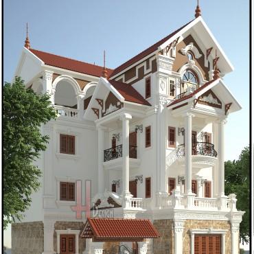 Mẫu biệt thự tân cổ điển 4 tầng tại Ninh Hiệp - Gia Lâm