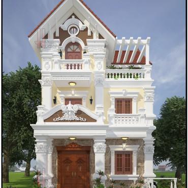 Mẫu thiết kế biệt thự tân cổ điển 3 tầng - Anh Hưng