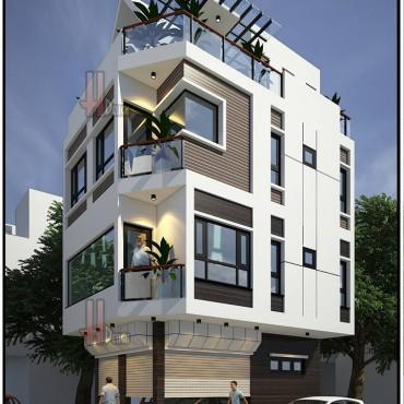 Mẫu thiết kế nhà phố hiện đại tại Quảng Ninh - Nhà anh Thế Anh