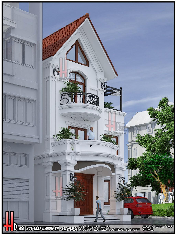 Mẫu thiết kế biệt thự tân cổ điển-Anh Nho Chị Hải