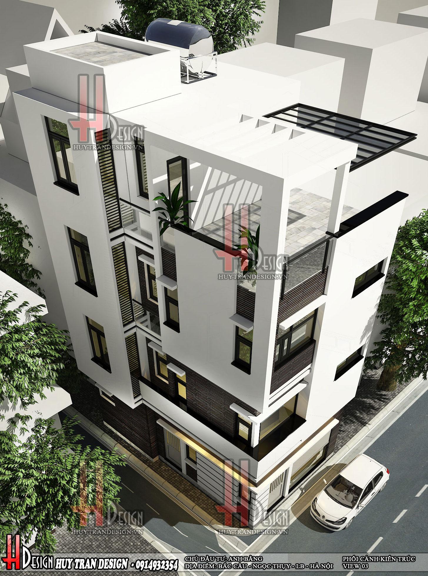 Mẫu thiết kế nhà phố hiện đại 3 tầng
