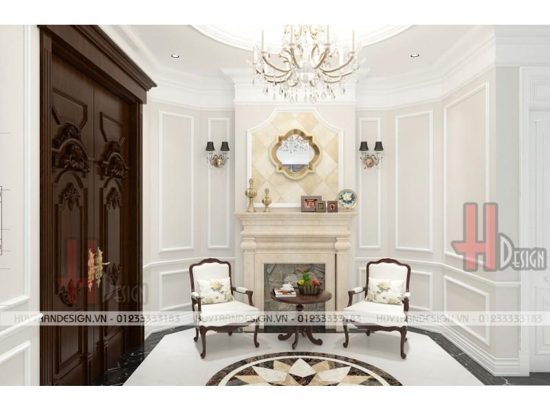 Mẫu thiết kế nội thất biệt thự tân cổ điển Việt Hưng