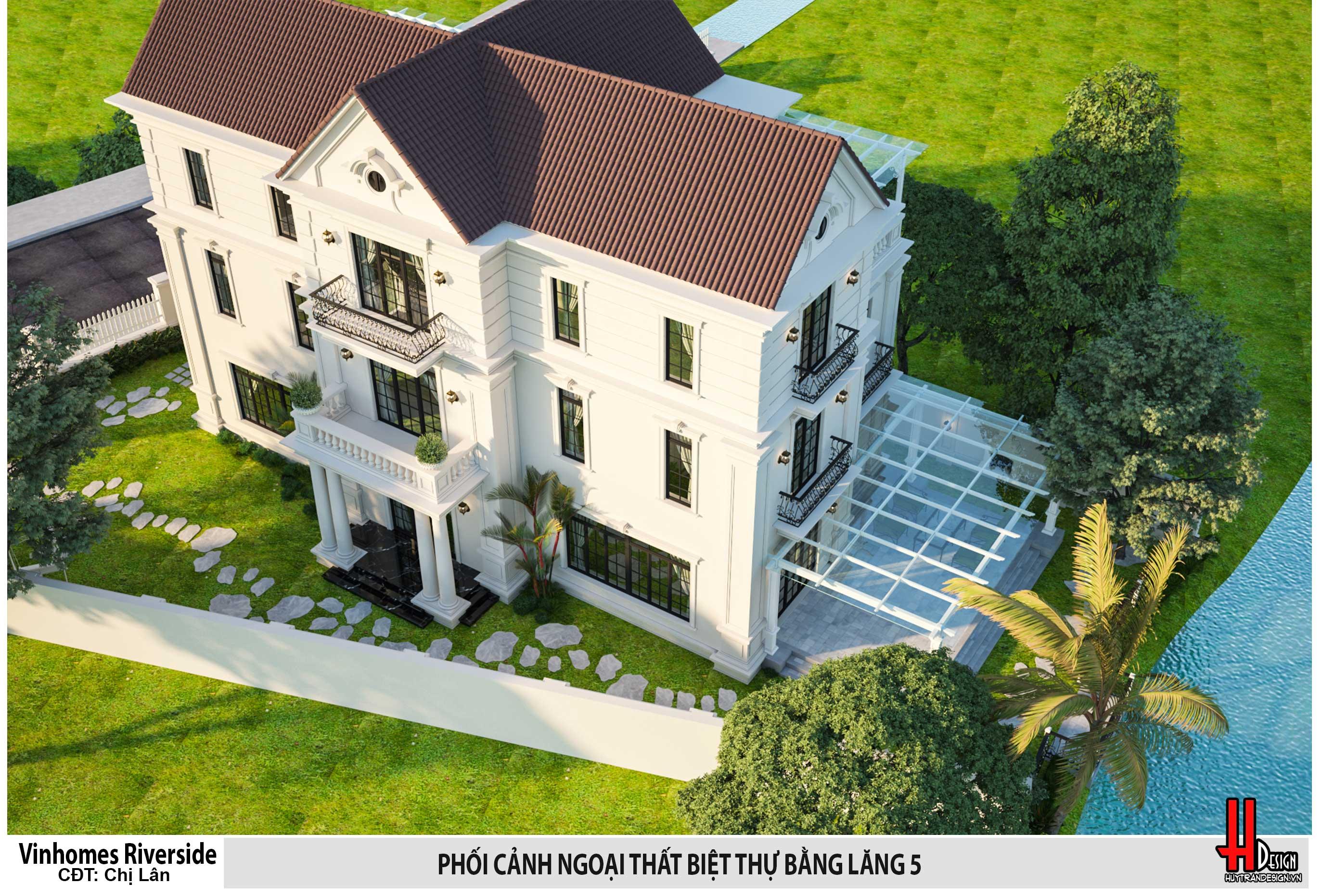Thiết kế biệt thự Vinhomes Riverside–Biệt thự Bằng Lăng