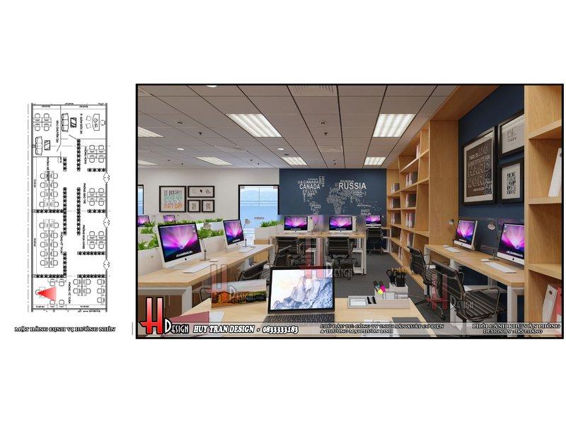 Mẫu thiết kế văn phòng làm việc nhà máy