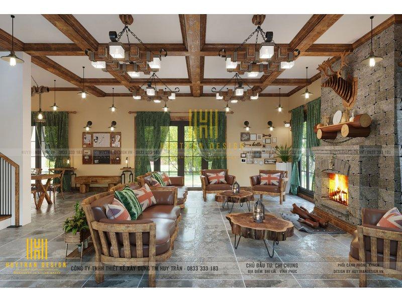 Mẫu thiết kế nội thất Homestay - Đại Lải phong cách Rustic hiện đại