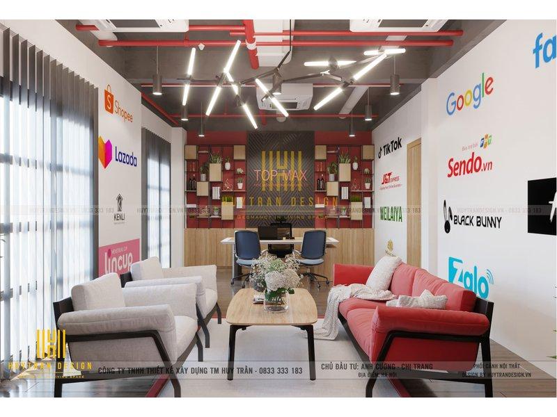 Mẫu thiết kế nội thất văn phòng công ty Top Max - Vinhome Ocean Park