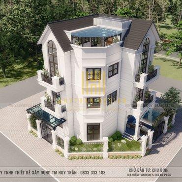 Mẫu thiết kế cải tạo biệt thự Vinhome Ocean Park phong cách tân cổ điển