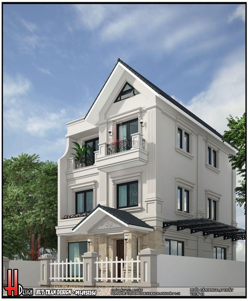 Thiết kế biệt thự Vinhomes RiverSide-Biệt thự Anh Đào
